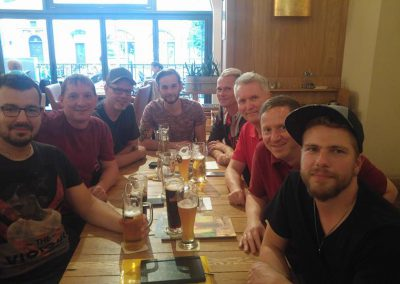 Erste Vorstandssitzung der RainbowBulls Leipzig mit dem Fanbeauftragten